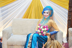 Indonesian bride Royalty Free Stock Photos