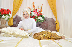 Indonesian bride Stock Images