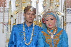 Indonesian bride and groom Stock Image