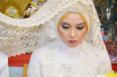 Indonesian bride Stock Photography