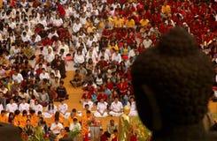 INDONESIAN BUDDHISM. Indonesian Buddhists are doing ritual according to the teachings of Siddharta Buddha Gautama, at Java, Indonesia. First came to Nusantara royalty free stock photo