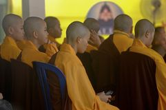 INDONESIAN BUDDHISM. Indonesian Buddhists are doing ritual according to the teachings of Siddharta Buddha Gautama, at Java, Indonesia. First came to Nusantara stock images