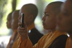 INDONESIAN BUDDHISM. Indonesian Buddhists are doing ritual according to the teachings of Siddharta Buddha Gautama, at Java, Indonesia. First came to Nusantara royalty free stock photography