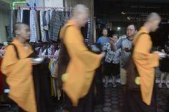 INDONESIAN BUDDHISM. Indonesian Buddhists are doing ritual according to the teachings of Siddharta Buddha Gautama, at Java, Indonesia. First came to Nusantara stock photos
