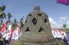 INDONESIAN BUDDHISM. Indonesian Buddhists are doing ritual according to the teachings of Siddharta Buddha Gautama, at Java, Indonesia. First came to Nusantara stock image