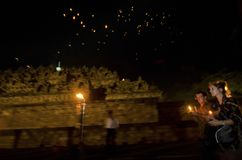 INDONESIAN BUDDHISM. Indonesian Buddhists are doing ritual according to the teachings of Siddharta Buddha Gautama, at Java, Indonesia. First came to Nusantara stock photo