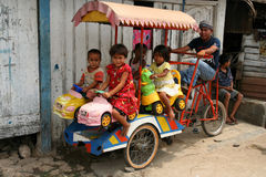 Indonesian pedal carousel Royalty Free Stock Photos