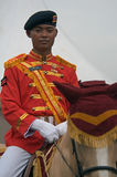 Indonesian cavalry soldier Royalty Free Stock Photo
