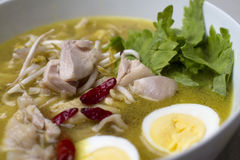 Indonesian Chicken Soup. Closeup of Indonesian Chicken Soup (Soto Ayam Stock Images