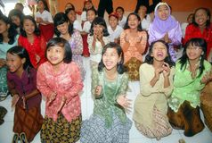 INDONESIAN CHILDREN LAUGHTER Stock Photography