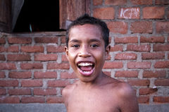 Indonesian children smiling Royalty Free Stock Images