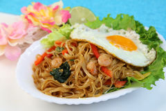 Indonesian chow mein/Mi goreng. It is Indonesia, Malaysia, Singaporean chow mein Stock Photo