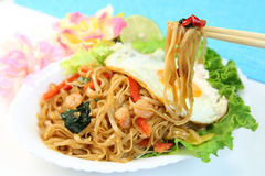 Indonesian chow mein/Mi goreng. It is Indonesia, Malaysia, Singaporean chow mein Stock Photography
