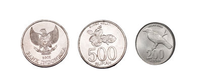 Indonesian coins Stock Photo