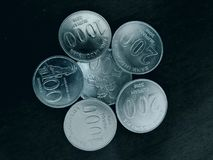 Indonesian Coins stock images