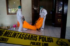 Indonesian Crime Scene Competition Stock Images