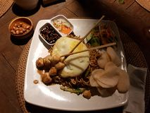 Indonesian dinner stock photography
