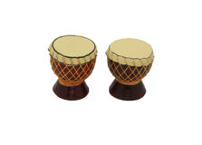 Indonesian Drum. Drum is a traditional musical instrument that has been used since thousands of years ago, which has functioned as a means of communication in Stock Photos