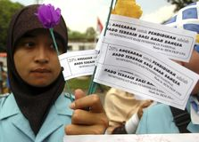 INDONESIAN EDUCATION SYSTEM PROTEST Stock Photography