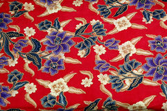 Indonesian fabric design. Detailed of texture Indonesian fabric design Royalty Free Stock Photography