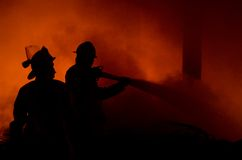 INDONESIAN FIRE FIGHTING Stock Photography