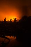 INDONESIAN FIRE FIGHTING Stock Images
