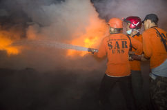 INDONESIAN FIRE FIGHTING Stock Photos