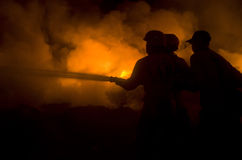 INDONESIAN FIRE FIGHTING Stock Photo
