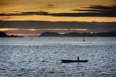 Indonesian Fisherman Stock Photography