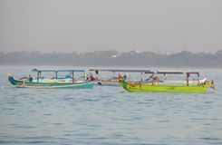 Indonesian fishing boats. Colorful traditional Indonesian fishing boats Stock Photography