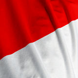Indonesian Flag Closeup Royalty Free Stock Photo