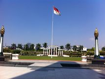 Indonesian flag. Flag Heroes monument indonesia beauty Stock Images