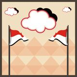 Indonesian flag red white vector5 Royalty Free Stock Images
