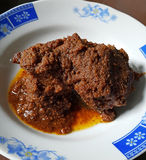 INDONESIAN FOOD DAGING RENDANG Royalty Free Stock Photos