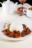 Indonesian Food Gudeg on white plate Royalty Free Stock Photos