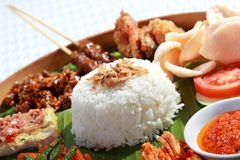 Indonesian food for lunch. Healthy and delicious indonesian food for lunch Stock Photography
