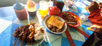 Indonesian food namely satay