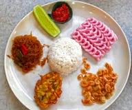 INDONESIAN FOOD NASI CAMPUR Royalty Free Stock Images