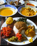 INDONESIAN FOOD NASI PADANG Royalty Free Stock Photography