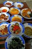INDONESIAN FOOD NASI PADANG Royalty Free Stock Images