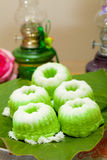 Indonesian Food Putu Putri Ayu Pandan Suji Stock Photos
