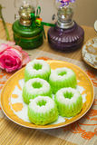 Indonesian Food Putu Putri Ayu Pandan Suji Royalty Free Stock Photography