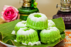 Indonesian Food Putu Putri Ayu Pandan Suji Stock Photography