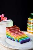 Indonesian Food Rainbow Layer (Lapis Rainbow) Royalty Free Stock Image