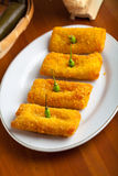 Indonesian Food Risoles on white plate royalty free stock photography