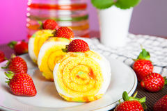 Indonesian Food Roll Jelly Ager Gulung Stock Photos