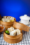 Indonesian Food Siomay Bandung with blue dark background Stock Image