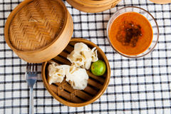 Indonesian Food Siomay Bandung view from the top Royalty Free Stock Photography