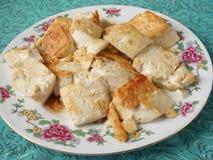 Indonesian fried tofu dish. Indonesian main course fried tofu dish royalty free stock photography