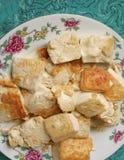 Indonesian fried tofu dish. Indonesian main course fried tofu dish stock photography